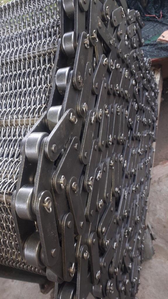 băng tải lưới xích, lưới xích, lưới xích inox, lưới thép, lưới inox